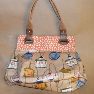 Fossil canvas tote bird design